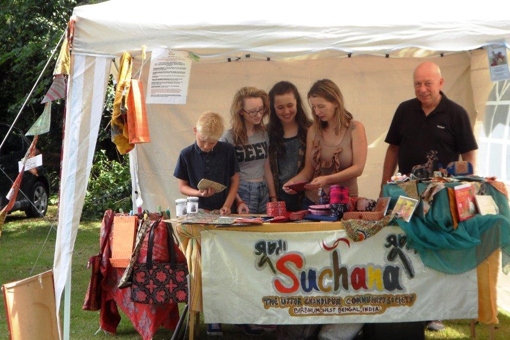 Selling Christmas Card at Sheldwich school fete - 2009