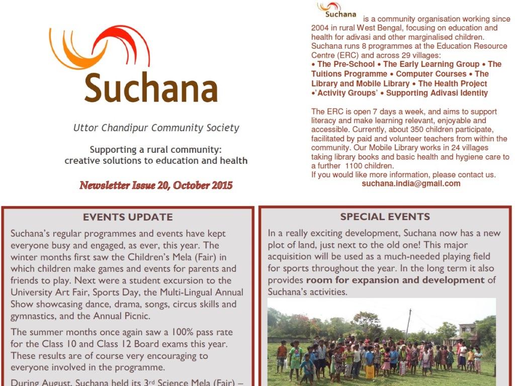 Newsletter Issue 20, 2015